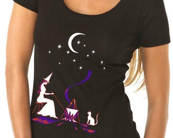 halloween shirt - halloween t shirt - witch shirt - witch t shirt - womens tshirts - halloween gifts - fall shirts -GYPSY WITCH - scoop neck