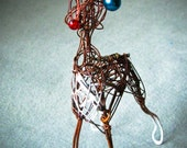 Wire Reindeer Decoration, Wire Ornament, Christmas Reindeer, Whimsical Table Decor, Metal Christmas Ornament, Ready to Ship