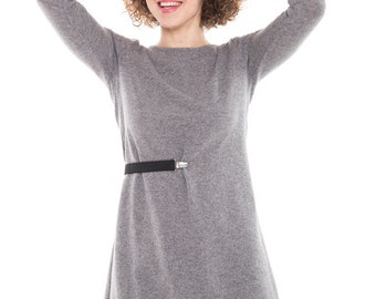 Day dress | Adjustable dress | Gray wool dress | LeMuse day dress