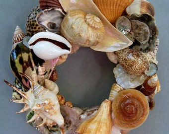 Colorful Shell Wreath or Candle Ring–SW80