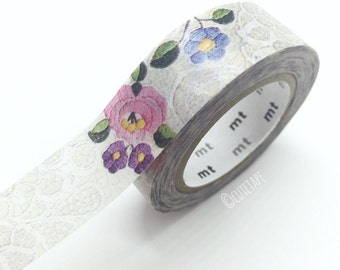 Japanese Lace flowers Washi tape floral Pretty Tape