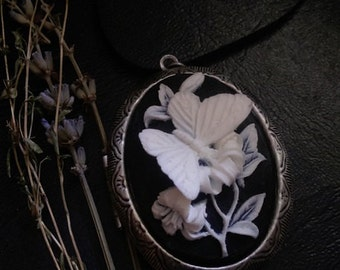 Natural  Solid Perfume Locket Moth Cameo Gypsy Alchemy  Choose Your Scent