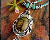 Earthy SCARAB NECKLACE Amulet Scarab Beetle Spiritual Egyptian Tribal leather necklace Protection Statement necklace Woodland nature GPyoga