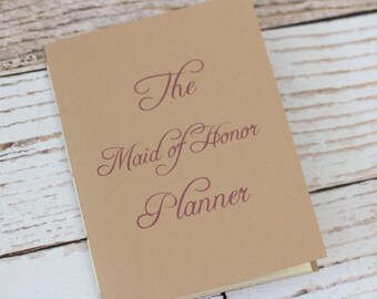 Maid of honor planner - matron of honor - bridesmaid - organizer - jotter - wedding planner - bridal shower planning - budget - natural