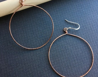 thin copper hoops