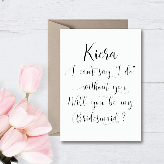 """Personalised """"WILL YOU BE"""" Bridal Party Wedding Cards 