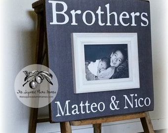 Brother Gift, Fathers Day Picture Frame, 16x16 The Sugared Plums Frames