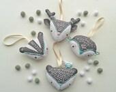 DIY Woodland decorations. Pdf Pattern. Christmas tree decorations.Embroidery pattern. DIY craft. Home decor.Deer.Badger.Owl.Bear.