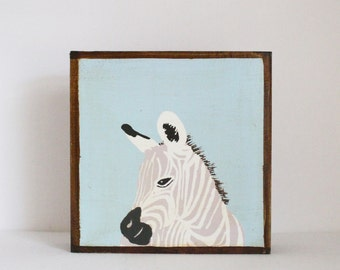 safari nursery decor, jungle nursery art, zebra print, zebra nursery, safari, jungle, boho, tribal nursery, art block, animal print