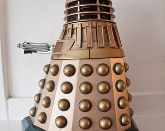"Vintage Dalek Robot  /  BBC 1963  /   13"" tall  /  Talking Doctor Who Icon"