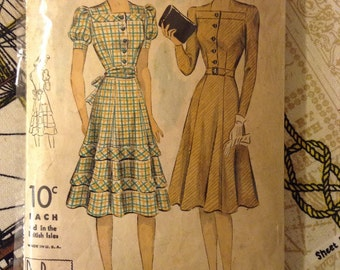 Vintage DuBarry 2477 B Dress Sewing Pattern 32 Inch Bust