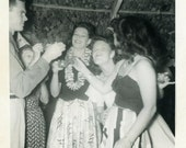 """Vintage Photo """"The Awkward Party Guest is Here"""" Face Snapshot Antique Photo Black & White Photograph Found Paper Ephemera Vernacular - 43"""