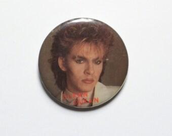 "vintage 80s Duran Duran button Nick Rhodes pin pinback 1980 Duran Duran badge 1.5"" button"