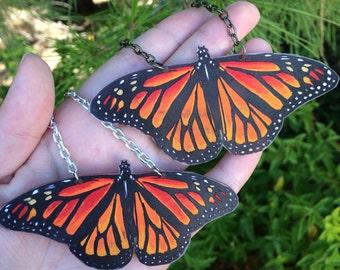 Monarch Butterfly Original Art Necklace Danaus Plexippus
