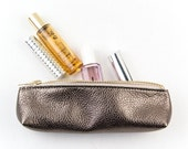 Leather Pencil Case. Small Leather Brush Bag. Artist Pencil Case. Small Pencil Case
