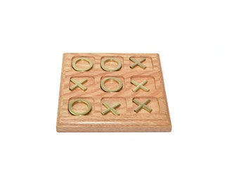 Brass Tic Tac Toe Brass Game Board Wood Tic Tac Toe Wood & Brass Tic Tac Toe Brass and Oak Coffee Table Games