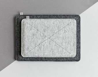 iPad Air Wool Felt Sleeve, iPad mini Eco-friendly Felt Case Handmade Cover// CROSS (multicolor)