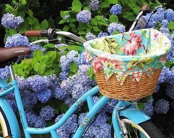 Bicycle Basket Liner, Electra Basket Liner, Bike Basket Liner, Custom, Made-to-order