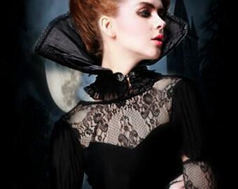 Victorian collar gothic choker black choker victorian inspired victorian collar gothic collar COMETCON costume