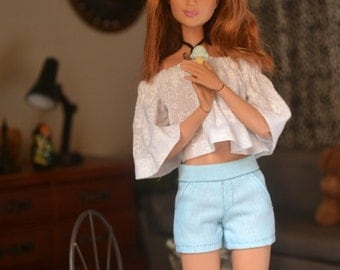 Cyan City Shorts for 12in Fashion Dolls