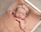 JERSEY COLLECTION ~ Newborn Photo Prop, Newborn Headband, Set, Newborn Tieback, Flower Crown, Newborn Photography Props, Baby Headband