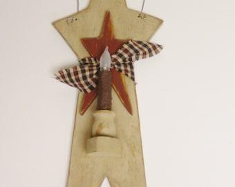 Star Candle Sconce, Primitive Americana, Country Farmhouse Decor