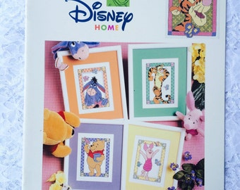 Pooh and Friends Counted Cross Stitch Pattern, Disney Home Pooh Collection, Winnie the Pooh, Piglet, Tigger, Eeyore