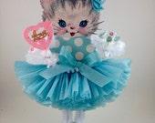 Retro Blue Kitty Valentine