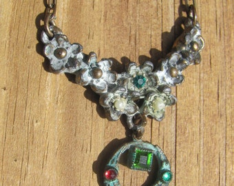 Vintage Oxidized Metal Necklace