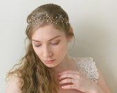 Crystal Branch Hair Vine 'Grenna' - hand wired Swarovski crystals - ethereal bridal headpiece