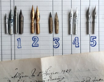 Vintage nibs small selections: only set 2 available. Set 1, 3, 4 and 5 are sold.