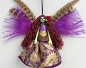 Fairy Ornament, hanging decoration, Day of the Dead decor