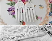 STORE CLOSING SALE I Do Me Too, Wedding Cake Forks, Cake Forks, Stamped Flatware, Stamped Silverware, Wedding Gift, Wedding Accessory