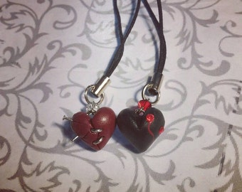 Mini Monster Heart Necklace or Charm