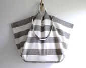 Extra large tote bag. simple summer beach style market tote