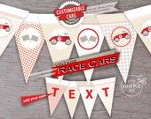 vintage race car banner, race car birthday, race car baby shower, race car banner, race car 1st birthday, 3rd birthday boy, baby shower boy