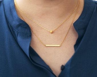 Bar necklace, everyday jewelry, delicate minimal jewelry