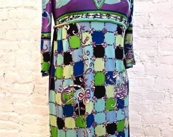 70s Emilio Pucci Silk Print Dress
