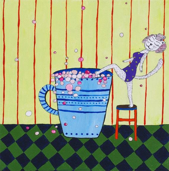 Funny bathroom wall art funny canvas art funny by artbyasta - Funny bathroom wall decor ...