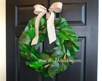 Spring wreath Wedding wreath outdoor wreaths front door wreaths magnolia wreath front decorations wedding front door wreaths