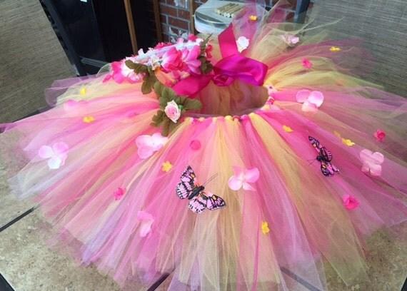 Woodland Fairy Tutu & Matching Headpiece, toddler tutu, baby tutu, infant tutu, tutu, newborn tutu, pink tutu, girl clothing, clothing