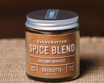 Autumn Harvest - Handcrafted Spice Blend - 2 ounces in Glass Jar, All-Natural and Gluten Free