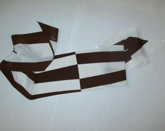 VINTAGE VERA SCARF  Brown & White StriPes Veresa by Vera Made in Japan