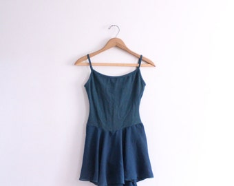 Dark Jade 90s Leotard Dress
