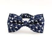 Blue Bow Tie Navy Bow Tie White Flamingo Bow Ties Wedding Gift for Groomsmen Women Bow Tie  Birds Bow Tie Animal Lover Gift for Hunter