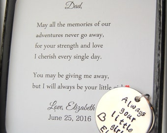 Father of the Bride keychain, Always your little girl keychain, Unique father of bride gift, father of the bride gift ideas, custom keychain