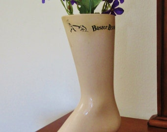 Vintage Buster Brown Mannequin Foot Store Display - Self Standing Weighted Foot!