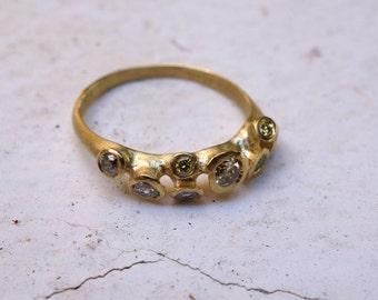 UNIQUE MULTISTONE RING Anniversary Diamond Ring Unique Diamond Ring Bridal Ring High End Jewelry Designed Ring Engagement Ring Wedding Ring