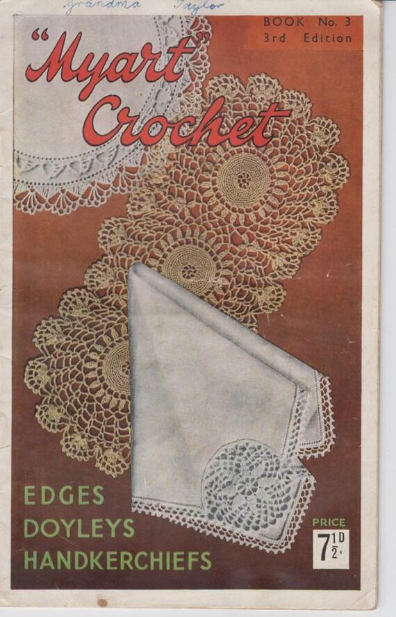 Paperback Book Cover Crochet Pattern ~ Vintage crochet pattern book myart edges doyleys