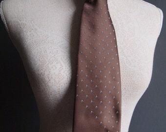 Vintage tie - Macys tie - gift for him  - retro tie - mink tie - designer tie - officewear - menswear - silk tie - Lanvin necktie - hipster